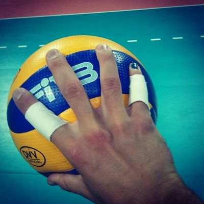 Today is my last #match of all what I did this glorious year! My damn hand got bigger and most successful than you the ball! I will kill you and take the win with my team to home... #fivb #volleyball #ball Volleyball Match Ball Fivb