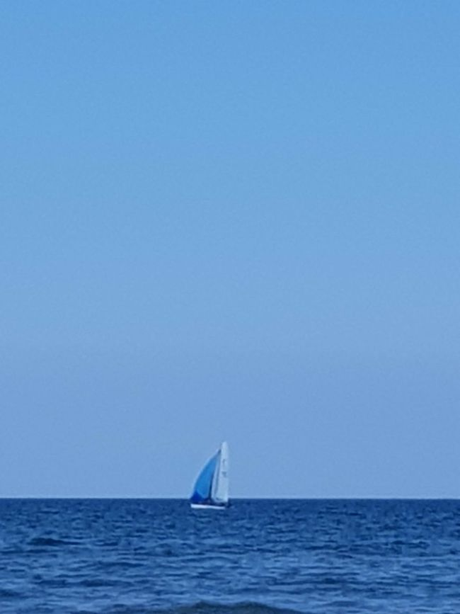 It's not far down to paradise Sea Horizon Over Water Sailboat Sailing Nautical Vessel Outdoors No People Horizon Blue Sky Scenics Clear Sky Day Water Nature Sailing Ship Yachting Senigallia Italy Senigalliainunclic Senigallia Beach Senigallia Tranquility Beauty In Nature Sunny