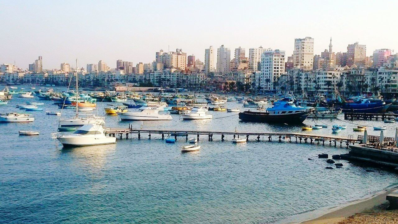 Travelegypt My Point Of View Check This Out Eyeem Travel Amazing Place Boats⛵️ Boats And Water Boats And Sea Boats Boats Boats Blue Sea Cityscapes Sea City Seaside Sea View Sea Life Sea And City Alexandria Egypt Tranquil Scene Sunny Afternoon Enjoying Life History