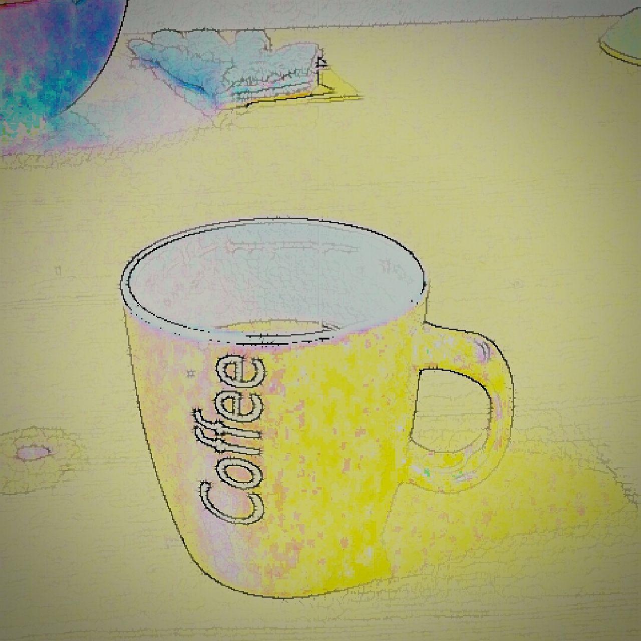 Kaffee Coffee Zeichnung-Effekt Kaffeepause Kaffeezeit Kaffeetasse Coffee Time Coffe Coffeetime März2015