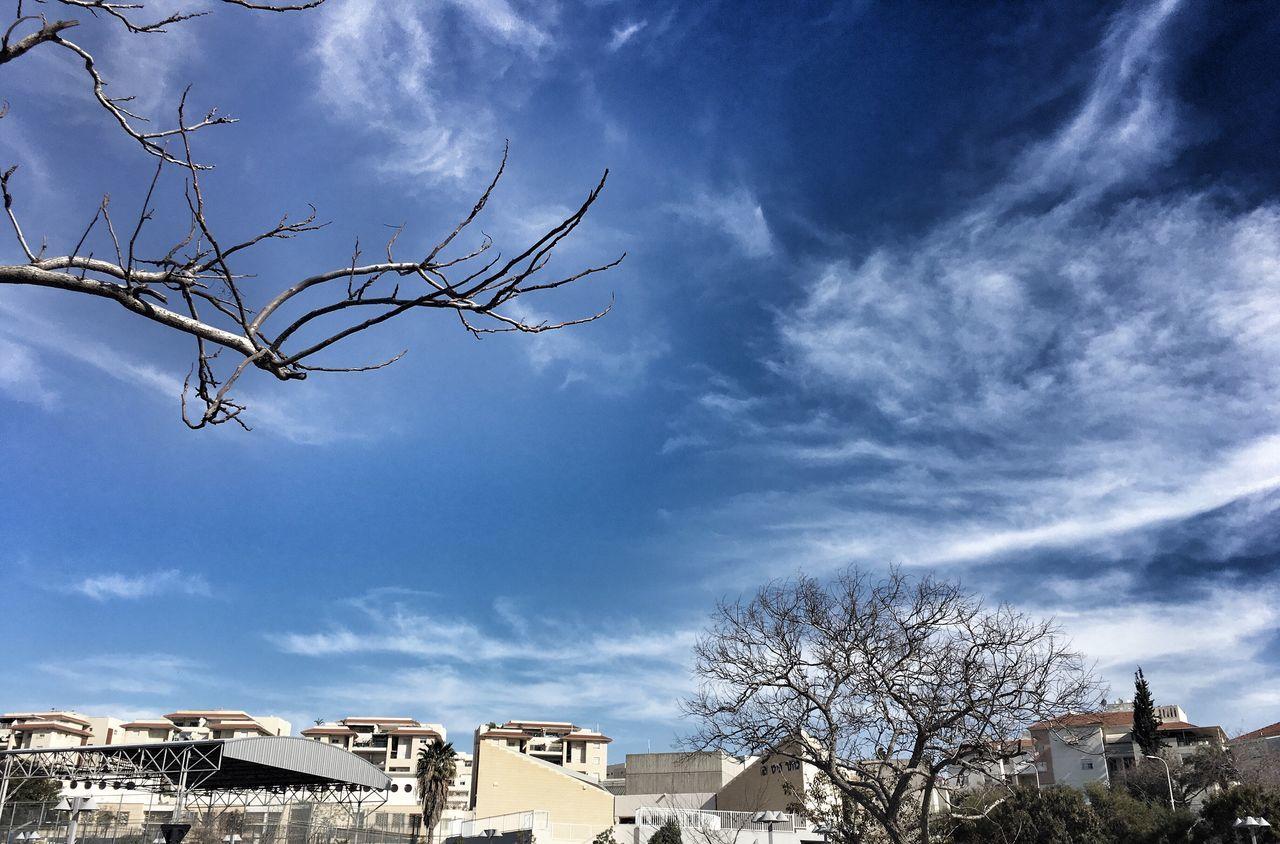 City Sky Cloud Blue Rooftop Building