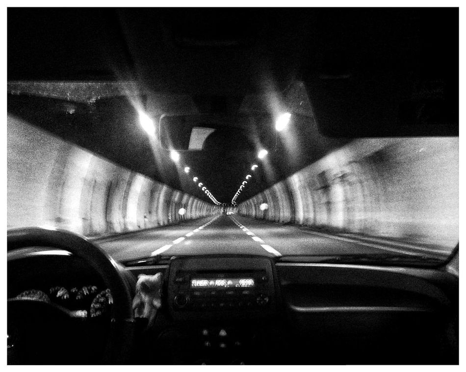 Transportation Car Car Interior Land Vehicle Illuminated Mode Of Transport Road The Way Forward Windshield No People Car Point Of View Night Indoors  Close-up Tunnel Vision Tunnel View Perspective Punto Di Fuga Wanishing Points Black And White
