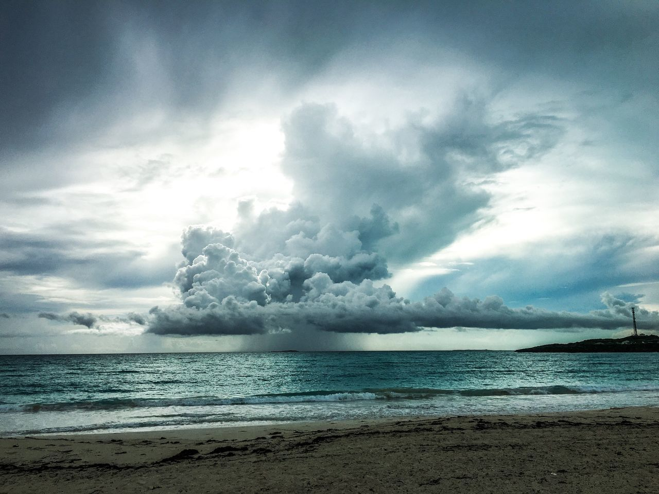 Summer storm off the coast of Great Exuma, Bahamas.