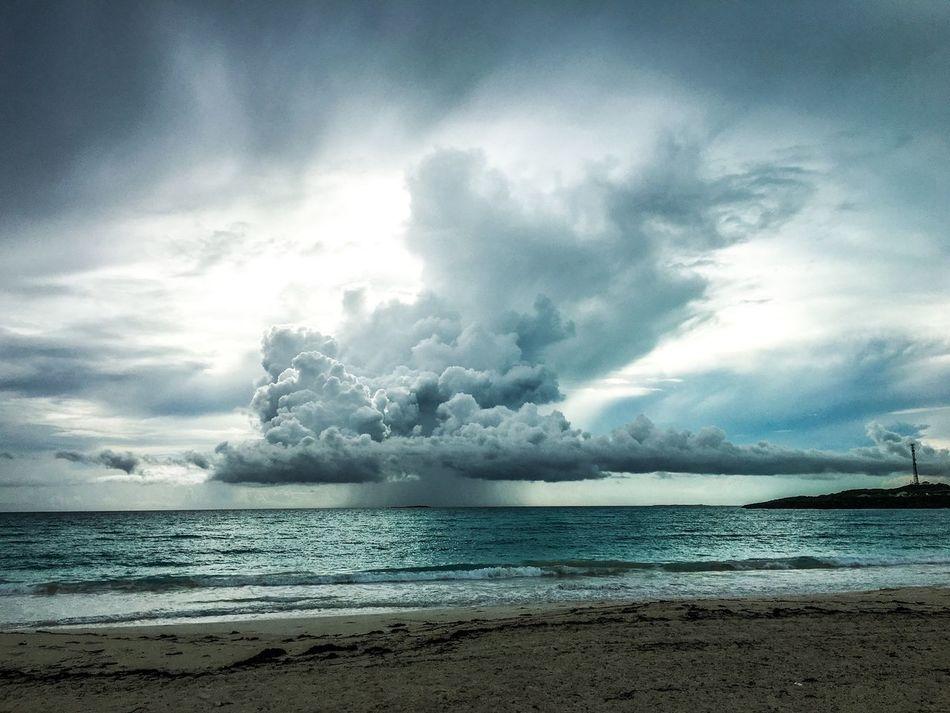 Summer storm off the coast of Great Exuma, Bahamas.