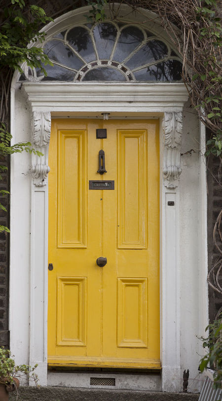 Dublin Individuality Ireland Old Fashioned Resistance  Wood Architecture Building Exterior Civil Day District Door English Entrance Gregorian Historical House Law Medieval Neighborhood No People Old-fashioned Outdoors Series Yellow