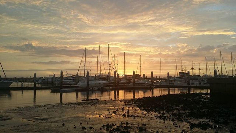 Staugustine Harbourside Harbour Cloudporn Epicsky Clouds Sunrise Boat Sailboat Picoftheday Florida Bridgeoflions Saltlife Saltlife_sunrise Fireinthesky