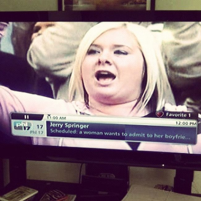 even tho it's not a Thursdayyy throooowback?✨JerrySpringer Funny Me Yolo lol instagram photo photography iphone iphone4