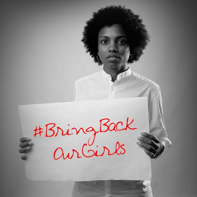 It is wrong to do nothing because you can do a little. Lend your voice too , say something about it. Bringbackourgirlsnow Thechibokgirls Naija