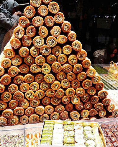 Beautifully Organized Sweet Sweet Food People Baklawa Kadayıf Dolması Kadayıf Qadayef Pistachio Baklava Honey