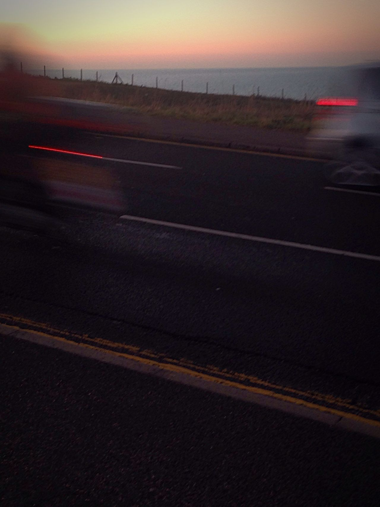 Transportation Sky Dark No People Sunset Landscape Road Outdoors Illuminated Nature Sunset Brighton Roedean