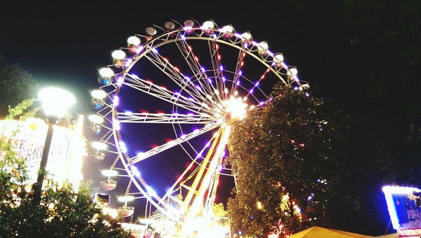 Stadtfest Dresden... Bigwheel Ferris Wheel ObservationWheel Stadtfest Romantic Night Fair Amusement  Enjoying Life