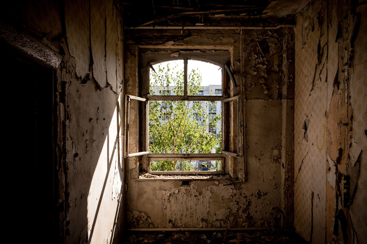 Through the looking glass Abandoned Places Damaged Dirty Interior Weathered Window