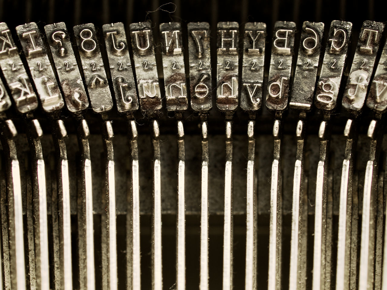 Olivetti Lettera 35 Arrangement Business Close-up Design Detail Full Frame Geometry In A Row Indoors  Large Group Of Objects Mechanics Mechanism Metal Metallic No People Old Old-fashioned Order Part Of Pattern Repetition Still Life Typewriterporn TypeWriters Wall Writing Machine