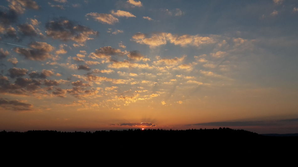 Sunset Nature Cloud - Sky Sky No People Beauty In Nature Tree Outdoors Panorama Raw Panoramic Photography Raw Photography Landscape_photography Nature Tree Nature Photography Clouds And Sky Dark And Light Silhouette