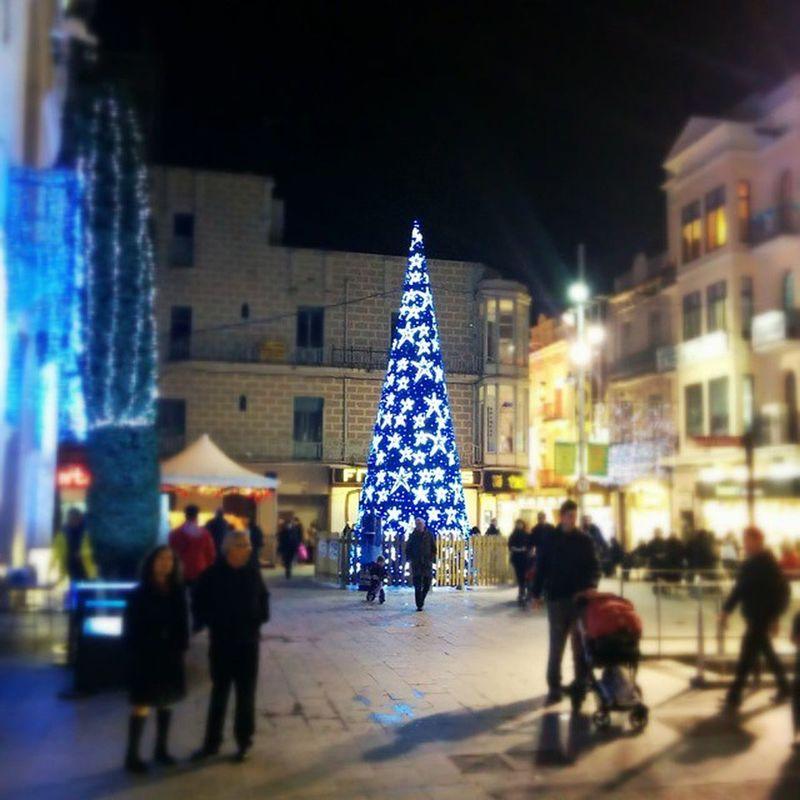 Navidad Espiritunavideño árboldenavidad Buahbuahquebonitaesmiciudad bdn badalona carrerdelmar lucecitas lucesdefiesta azul