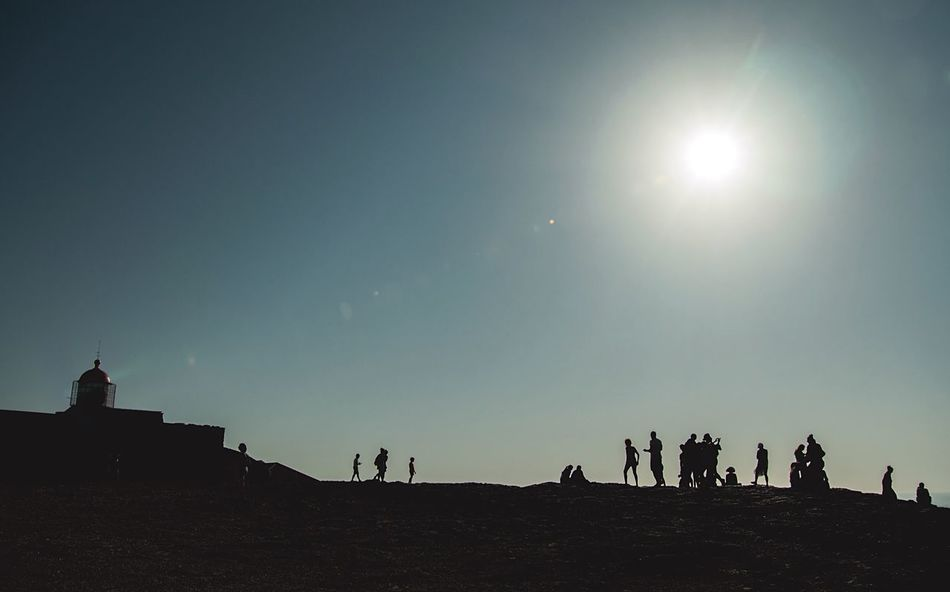 People Watching Enjoying The View Farol Do Cabo De Sào Vicente From My Point Of View Melancholic Landscapes Light And Shadow The Essence Of Summer Walking Around Taking Pictures End Of Europe Travel Photography Sunlight Colour Of Life
