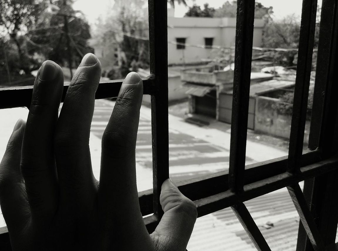 Nostalgia Time Passes By Old House Lookingback Moody Shotonphone Monochrome Shadesoflife Vintage... Bars caged by emotions
