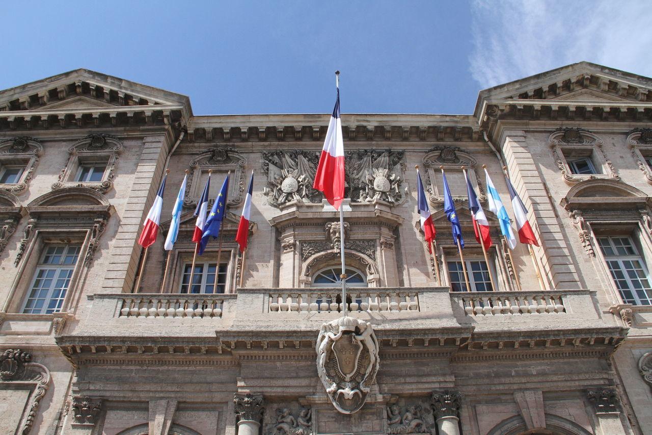 Marseille City Hall Architecture Building Exterior Built Structure City Hall Façade Famous Place French Flag Marseille