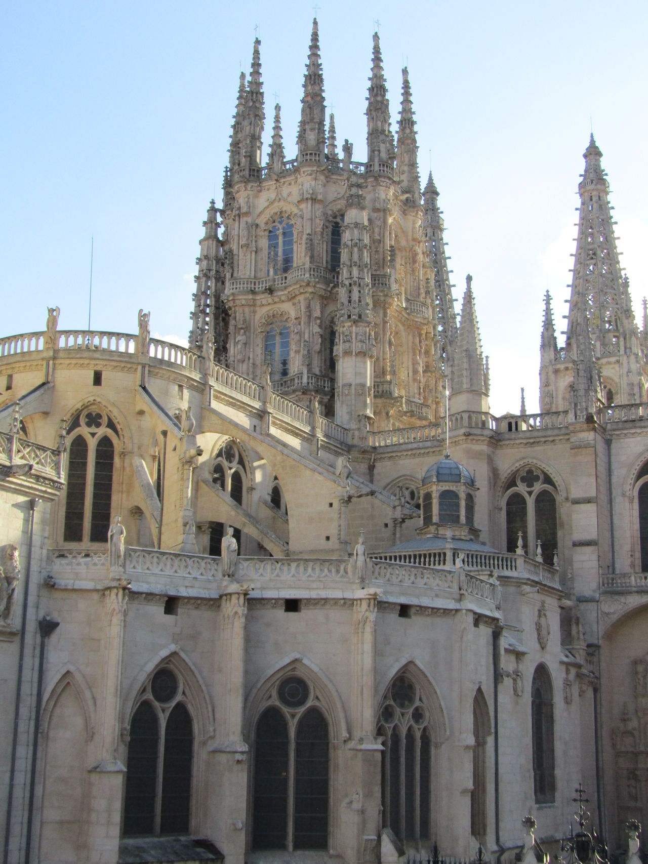 Travel Destinations Architecture City Tourism Building Exterior Clear Sky Kathedrale Cathedral Church Kirche Burgos SPAIN Spanien Santa Maria