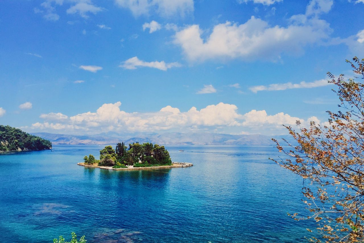 Water Sea Blue Island Beauty In Nature Greece Corfu