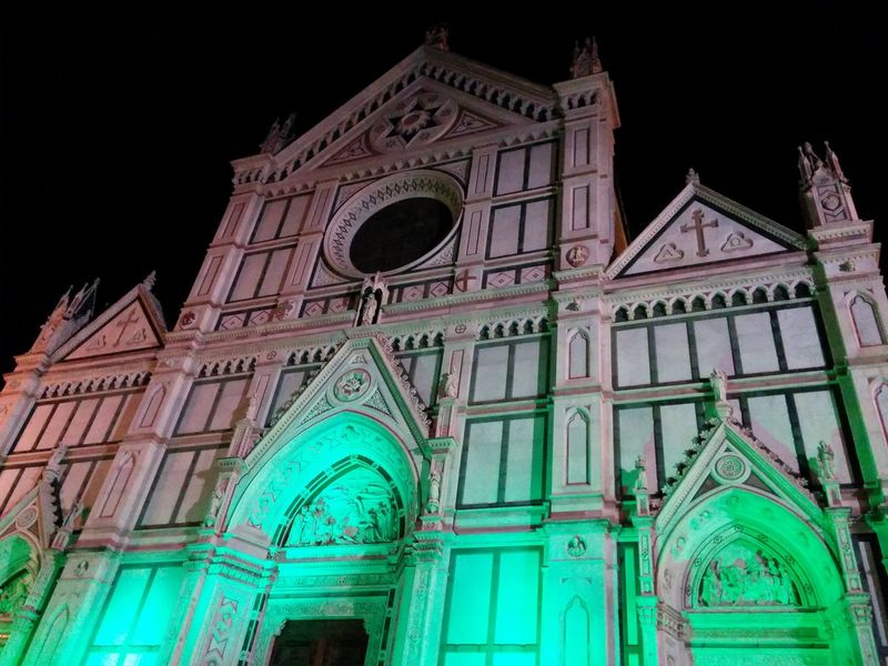 Cities At Night Chiesa Church Florence Firenze Italy Architecture Santa Croce Cathedral The Architect - 2016 EyeEm Awards Battle Of The Cities Overnight Success