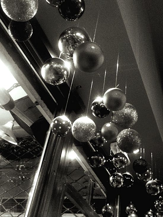 Christmas Balls Christmas Decorations at Drunk Sinatra Coctail Bar Enjoying Life with my Bestie  Merry Friday Night City Center Athens By Night 💫🌲🍸🍸 Advent for Bwn_friday_eyeemchallenge Bnw_friday_eyeemchallenge