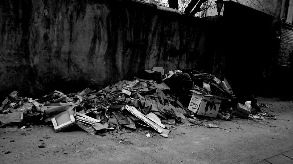 Black And White City Trash
