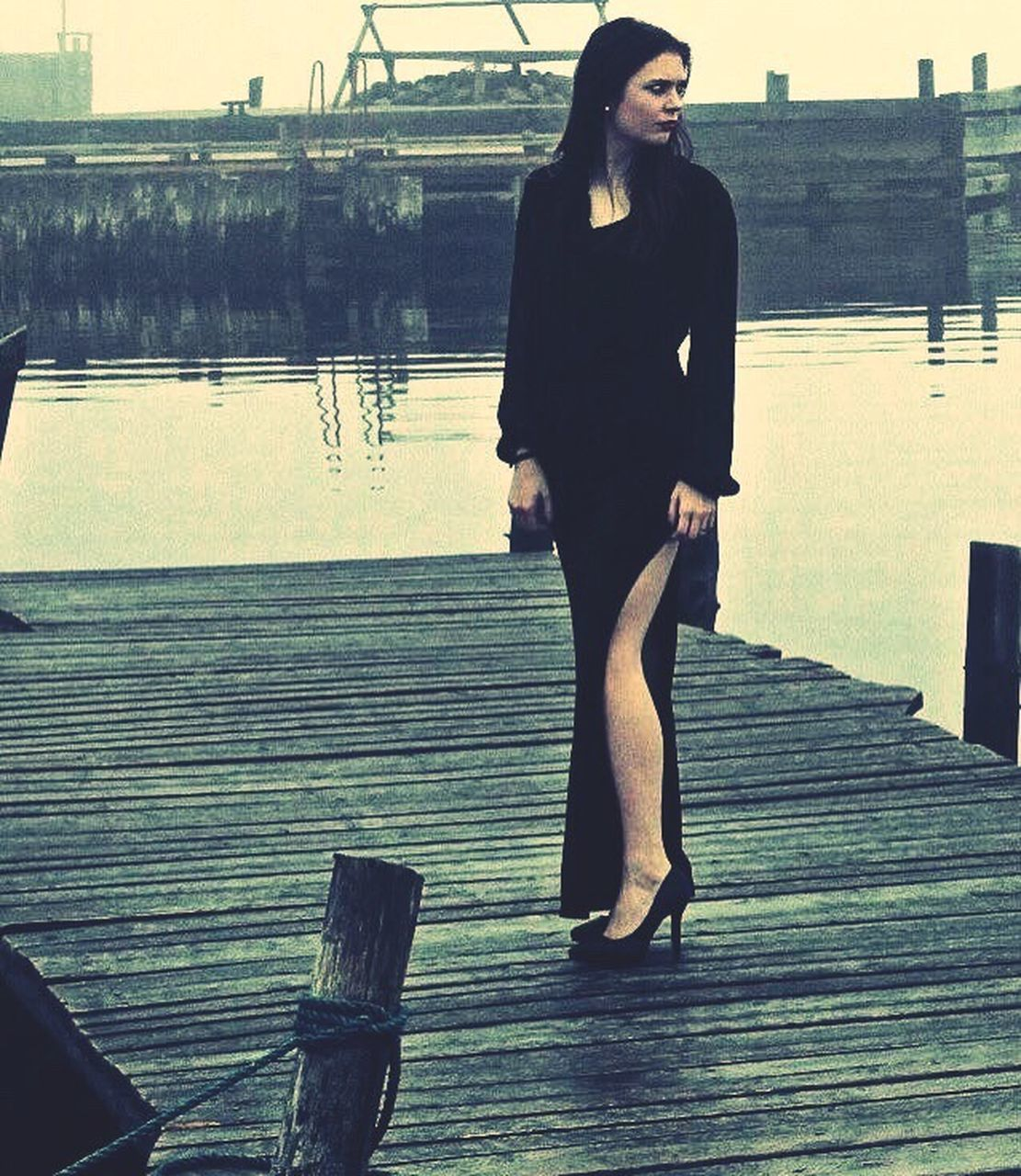 standing, one person, young adult, full length, young women, water, outdoors, women, real people, day, sky, adult, people, adults only
