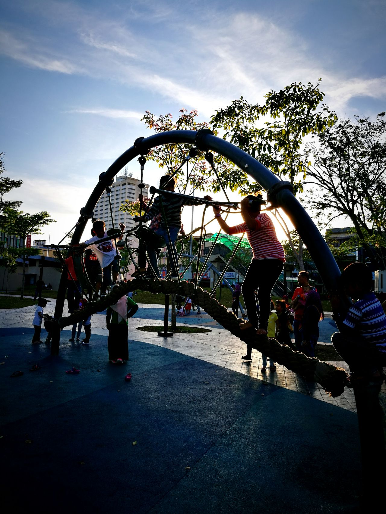 Large Group Of People Fun Lifestyles Sky Outdoors Nature Day Tree Real People Women Amusement Park People Leisure Activity