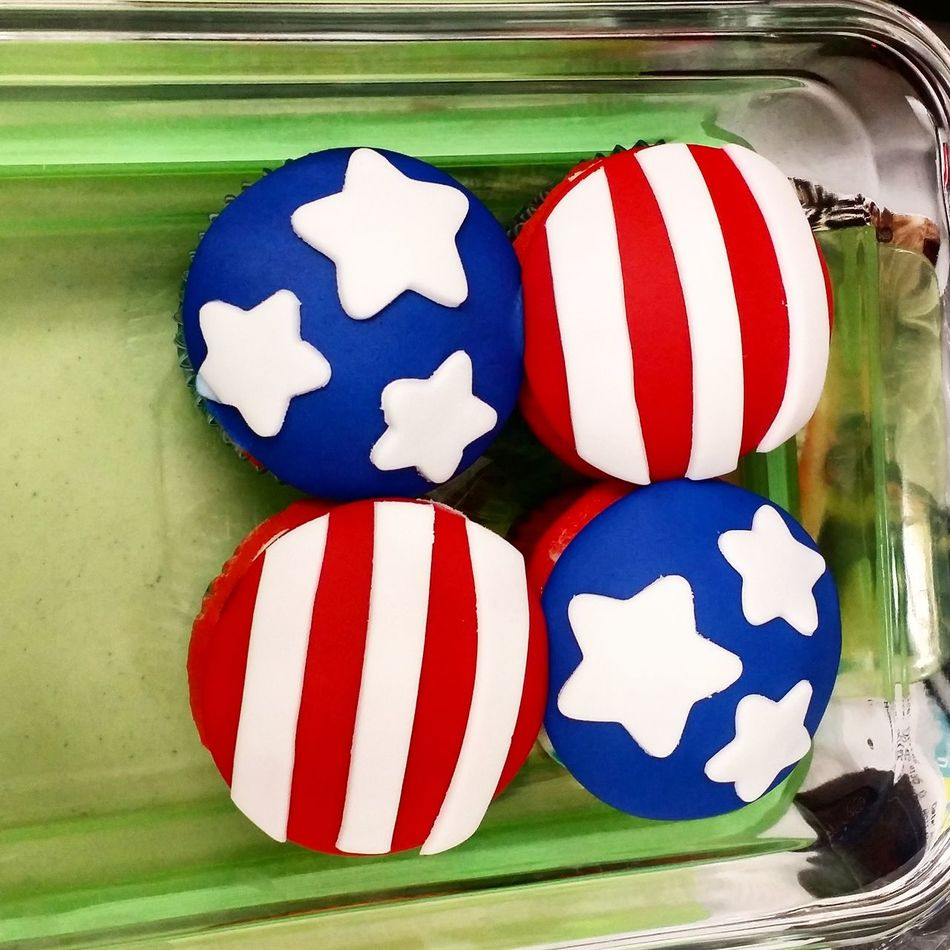 July Fourth Cupcakes Starsandstripes