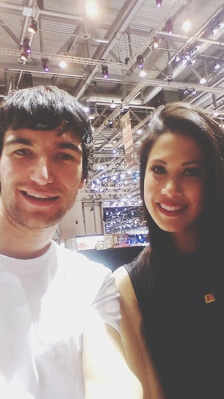 That's Me with a charming Pirelli hostess Selfie Time at GenevaInternationalMotorShow2015 GIMS2015 Swiss The Portraitist - 2015 EyeEm Awards