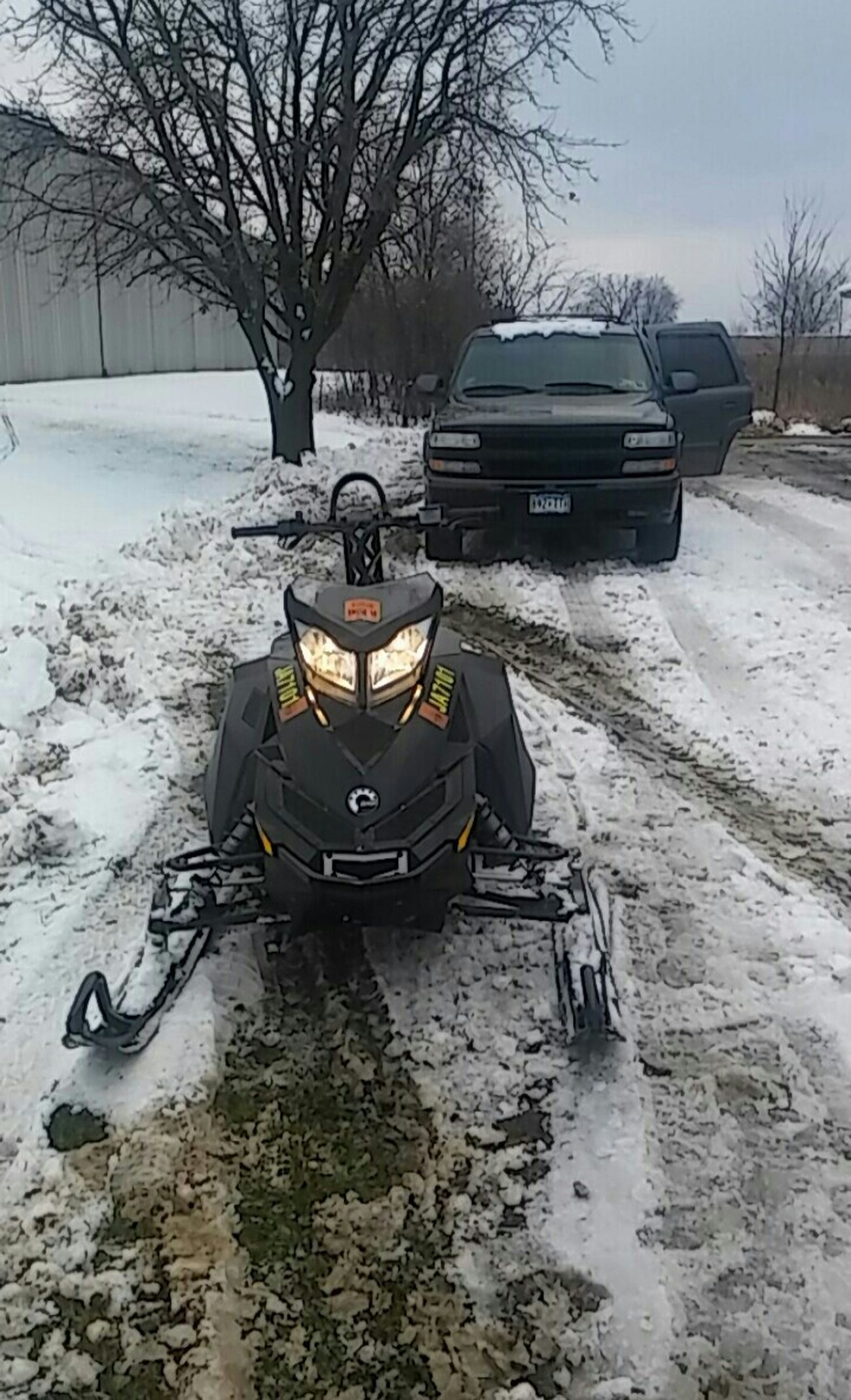 Winter Mode Of Transport Outdoors My Point Of View Check This Out Capture The Moment Boys And There Toys Snowmobiling First Snow My Point O View Cold Temperature