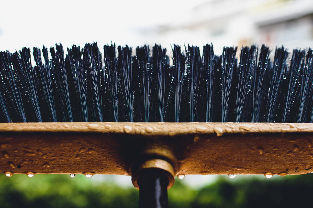 Beauty In Ordinary Things Bristles Broom Close-up Drops Geometry No People Ordinary  Rain Rainy Days Water Art Is Everywhere