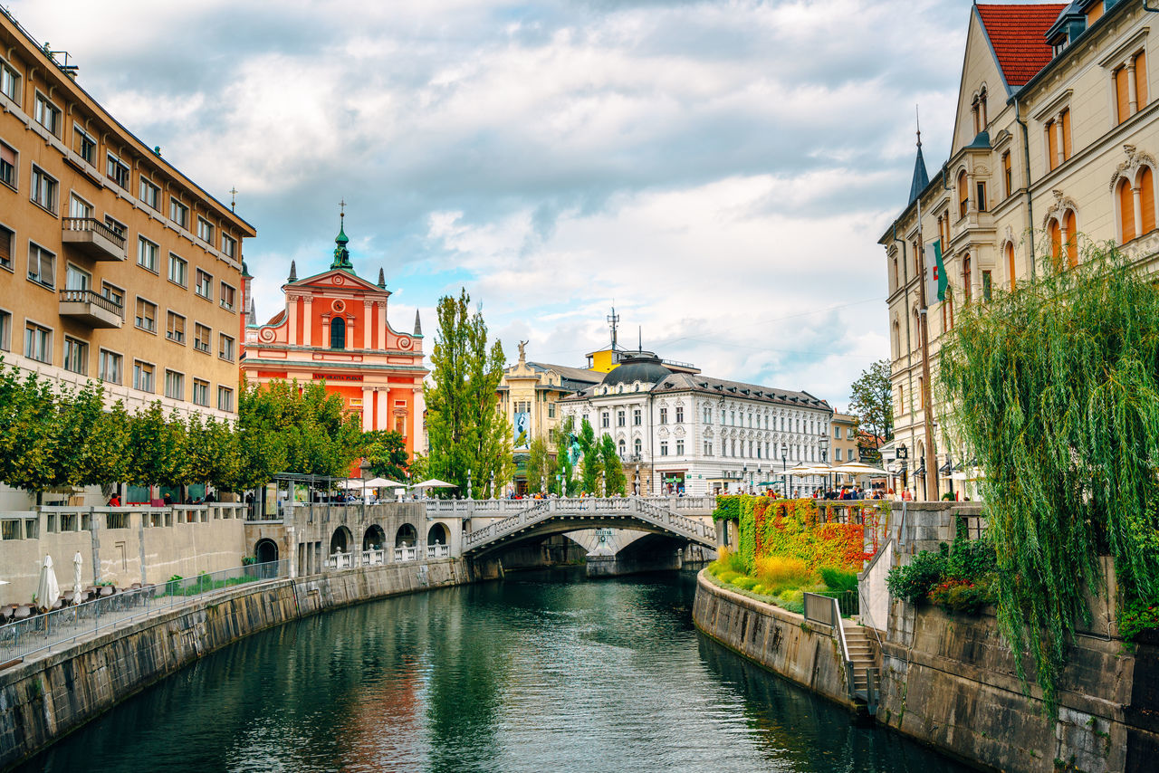 Architecture Bridge Canal City No People Slovenia Tranquility Water