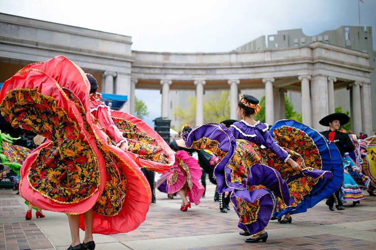 People Photography Cinco De Mayo Latin Cultures Dancing Dance Dress Dancer Colorado Mexican Culture Traditional Clothing Women Hispanic Tradition Mexico Colorado Performing Arts Event Girl Colorful Latina Latin Traditional Dancing Cultural Heritage Festival Folklore