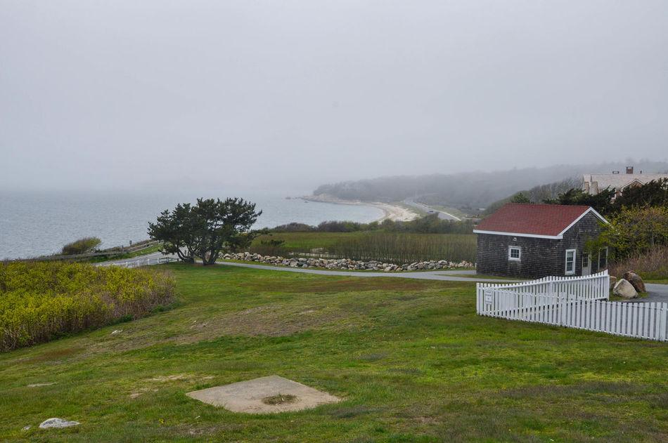 Atlantic Ocean Fog Green Color Lighthouse Nature No People Ocean Sky
