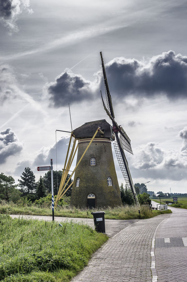 Dutch Windmill Architecture Cloud - Sky Nature Windmill Windmill Of The Day Dutch Windmill Netherlands, Historic Building Puttershoek Landscape EyeEmNewHere