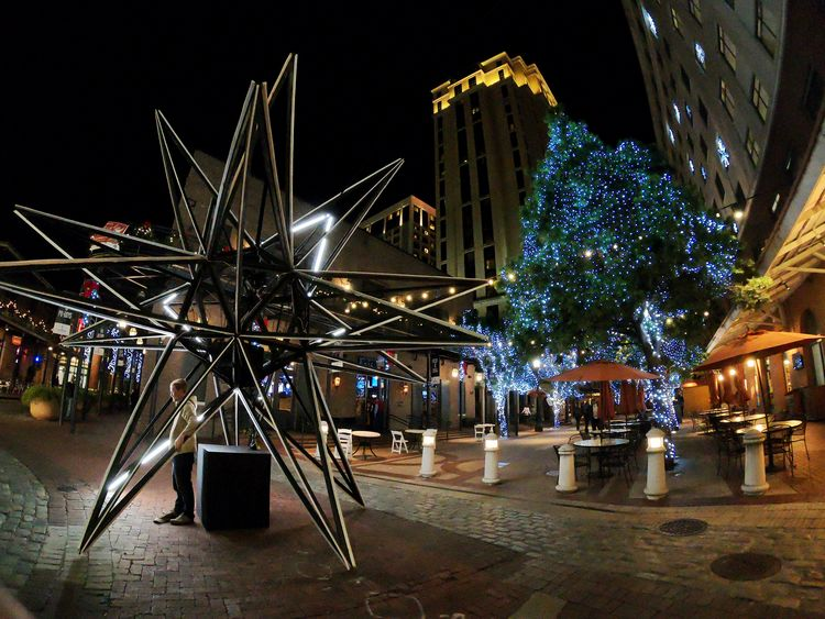 Christmas 😍 Gopro Actioncam Christmas Decoration Neworleans EyeEmNewHere EyeEm Selects Night Illuminated Architecture Built Structure No People Outdoors Sky City EyeEm Ready
