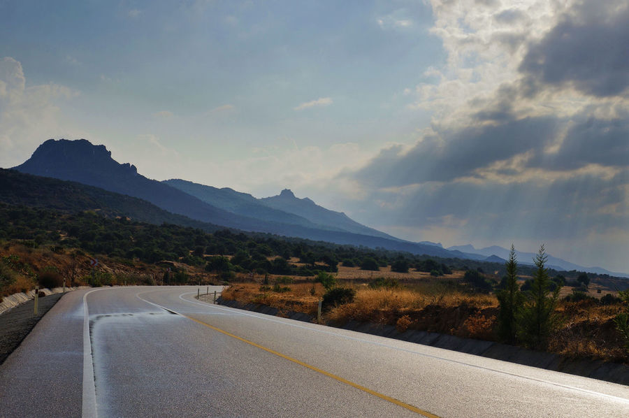 Cyprus Sunrays Beauty In Nature Day Landscape Mountain Mountain Range Nature No People North Cyprus Outdoors Road Scenery Scenics Sky The Way Forward Tranquility Transportation Travel