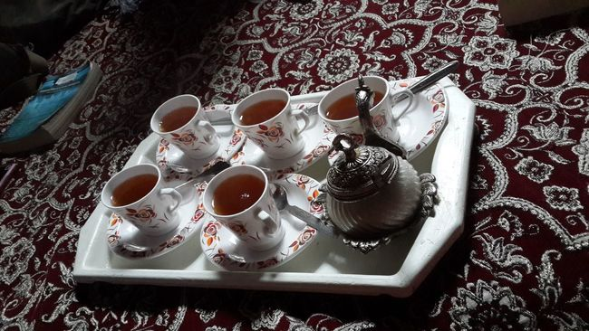 Arrangement Choice Close-up Coffee Coffee Cup Composition Cup Drink Food And Drink Freshness Indoors  Indulgence Kahwa Kashmiri Tea Preparation  Refreshment Saucer Spoon Srinagar Kashmir Still Life Table Tea Tea Cup Top Perspective Variation