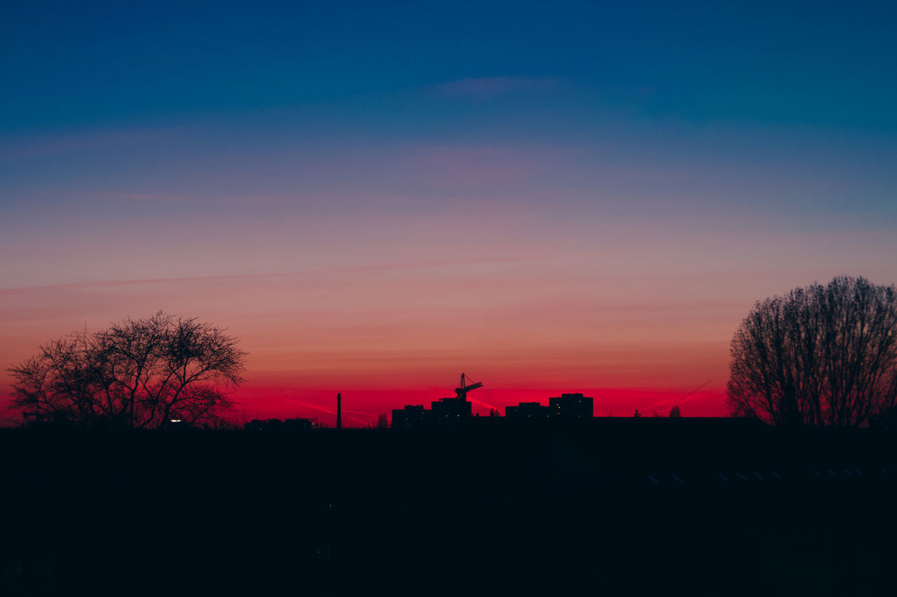Have a good night! Sunset Silhouette Tree Sky No People Star - Space Nature Outdoors Astronomy Night Galaxy Urban Skyline