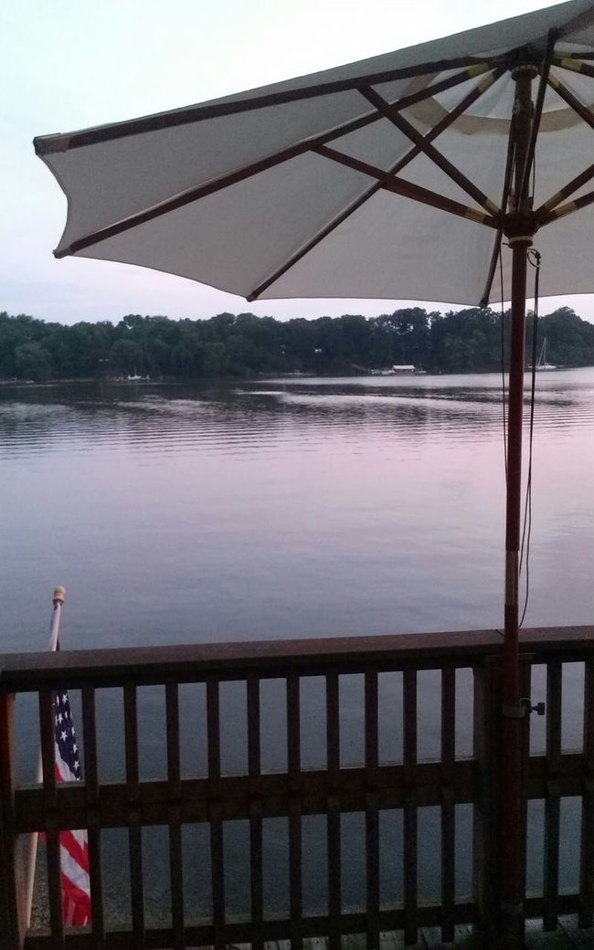 Proud of where I am from, enjoy the view I see. Tranquil state of mind is where you will find me Hanging Out Dock Water American Flag