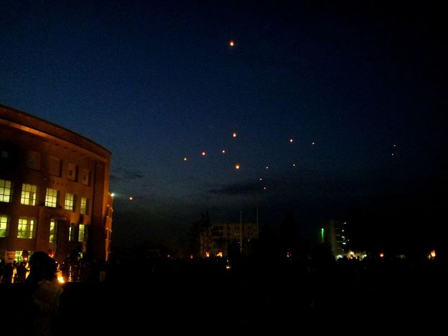 Black day tribute 2015 Lanterns Nightphotography Night Sky Lanterns In A Night Sky Comsats Black Day Darkness And Light Respect