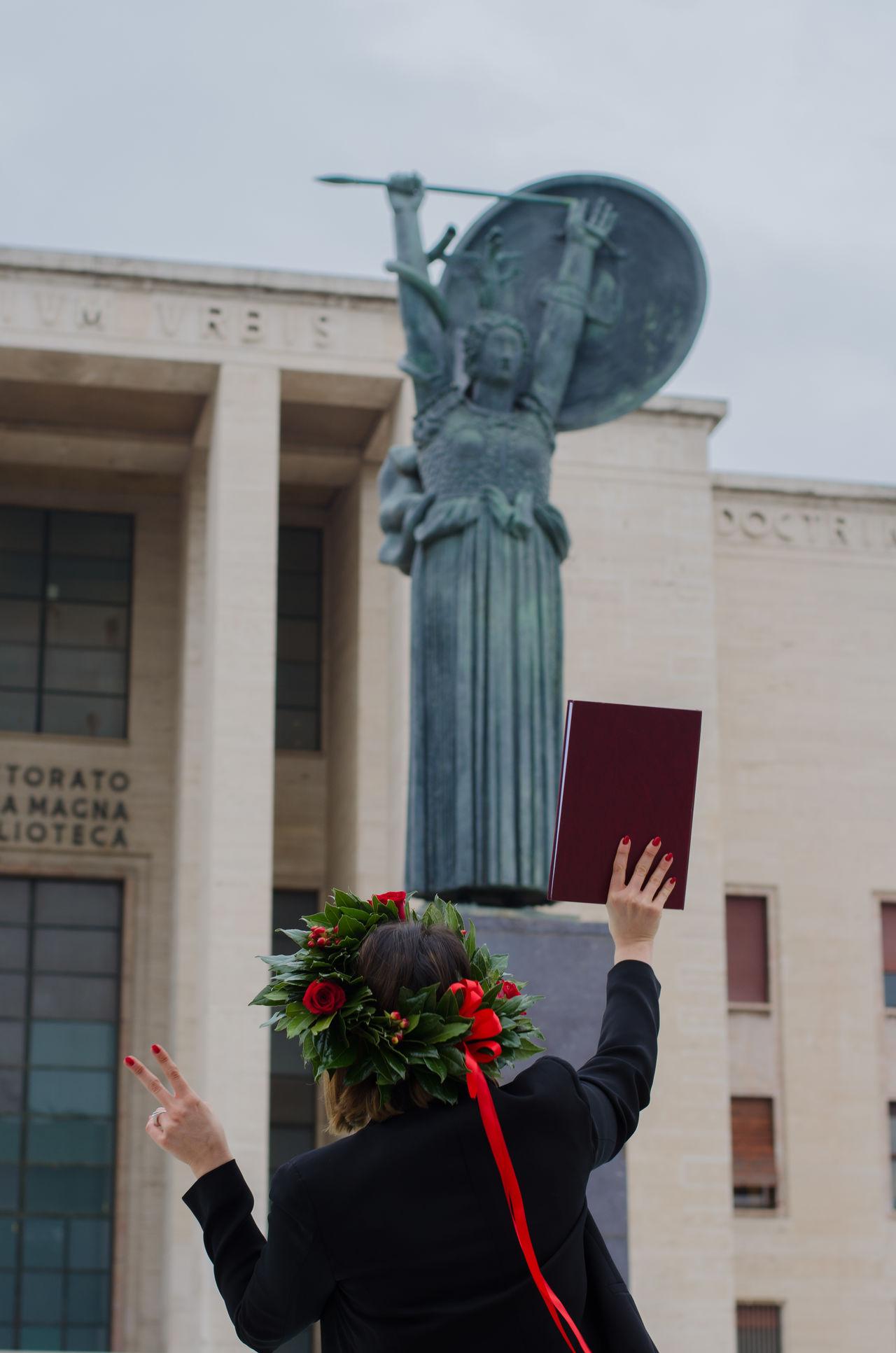 Graduation challenge Challenge Graduation Day M Sapienza Statue Thedimpples Univeristy Women
