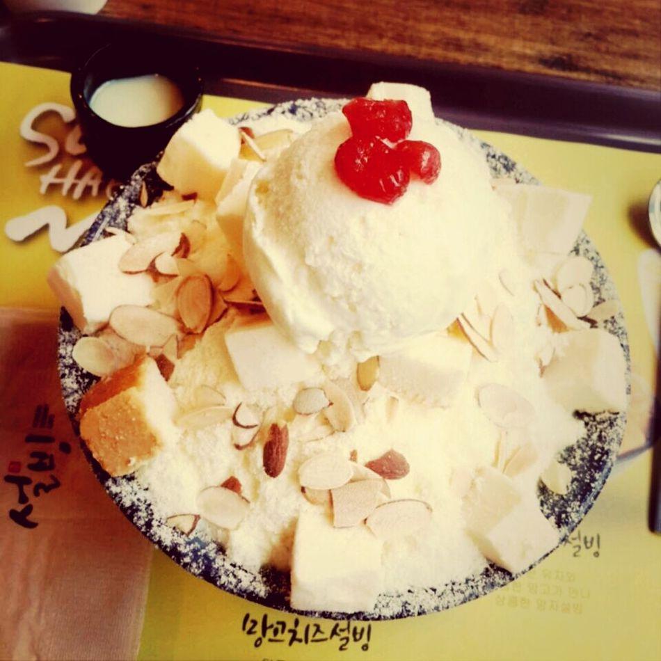성남동 설빙 팥빙수 치즈빙수