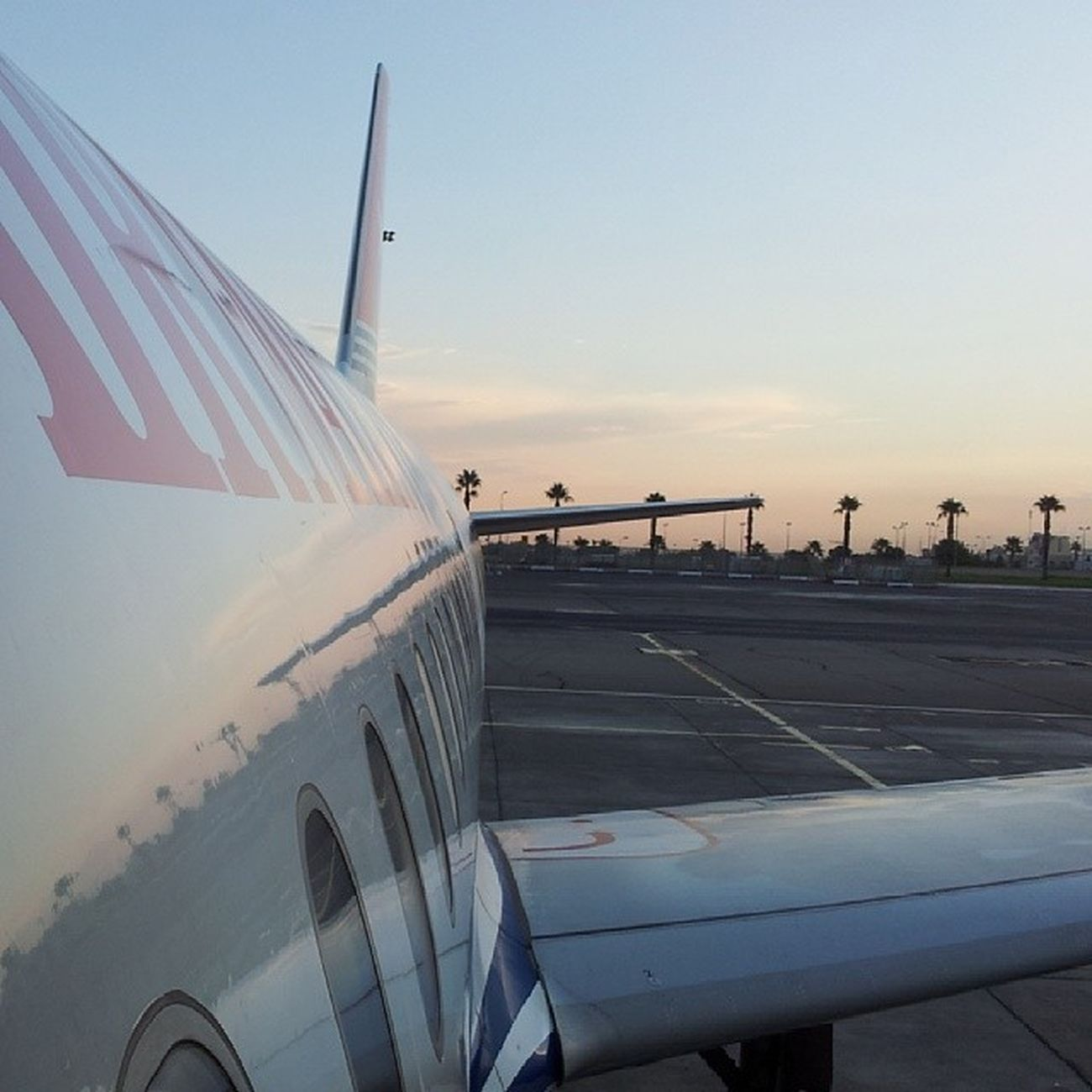 Sky Sunset Zonsondergang Airportmalta