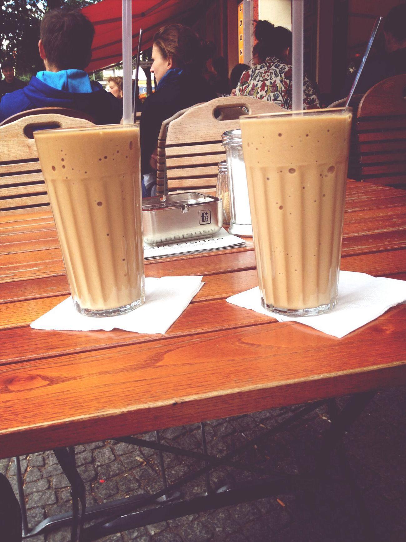 Ice Coffee at kaffeeladen Berlin Terrace Germany