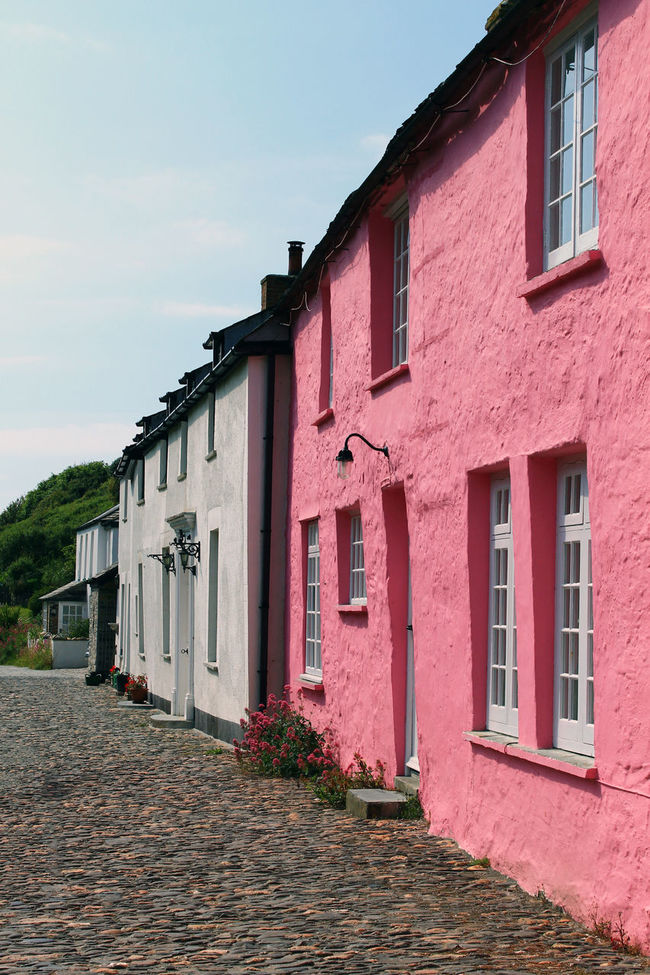 Building Exterior Cobble Stone Cobblestone Footpath Multi Colored Pink Color Residential Structure Cornish Village Travel Destinations Travel Photography FishingVillage Fishing Village Village Photography Village Life Cornwall Tourism Cornwall Life Cornwall Uk Cornwall Boscastle Cornish Coast Coastal Life Coastal_collection Tourist Attraction  Painted Houses Painted House
