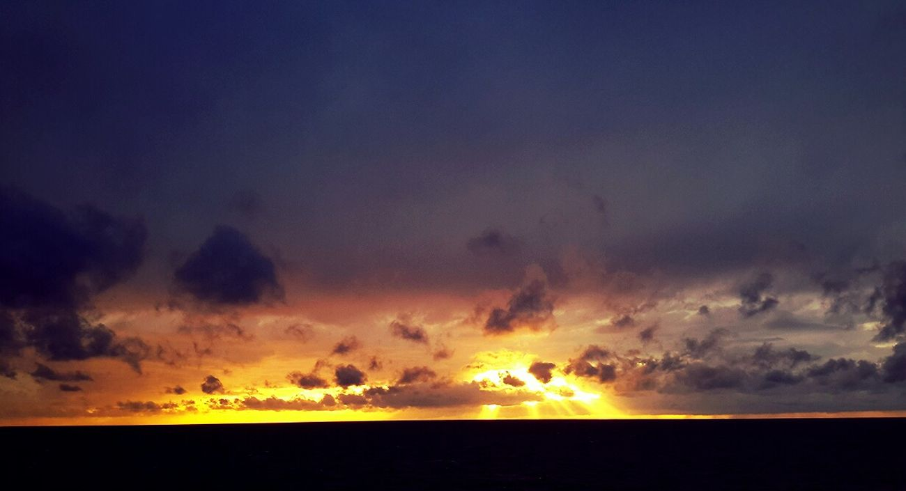 Sunset towards Ebeltoft....