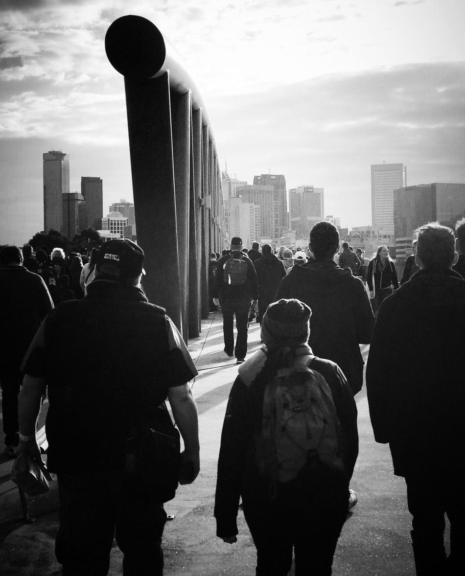 Large Group Of People Skyscraper Rear View Resist Black And White Photography Getty Images Shootermag_australia Street Photography Uniqueness Black And White EyeEm Diversity Resist Long Goodbye